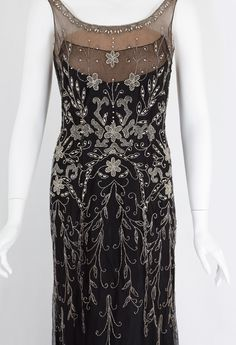 1930s Clothing at Vintage Textile: #2718 beaded evening dress