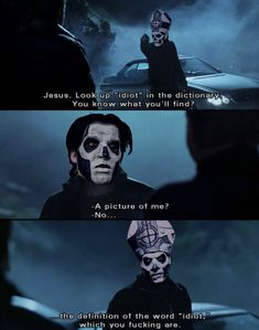 You've brought shame on the clergy, on the brotherhood Ghost Bc, Ghost Papa, Band Ghost, Alien Character, Ghost And Ghouls, Ghost Pictures, Band Memes, Ghost In The Shell, Tobias