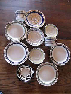 Set of various Gefle Zebra, Smide, Mexico etc Sweden Scandinavian collectibles