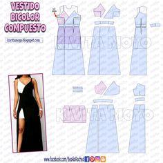 Dress Sewing Patterns, Sewing Patterns Free, Free Sewing, Clothing Patterns, Sewing Clothes, Doll Clothes, Diy Clothes Videos, Modelista, Diy Fashion