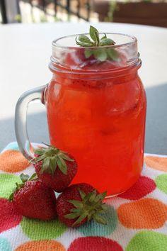 Eckert's Summertime Beverage: Strawberry Basil Lemonade #eckertsrecipes