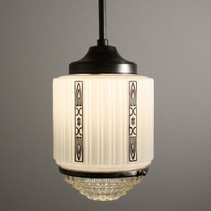Wonderful Antique Art Deco Skyscraper Pendant Light, ca.1930's