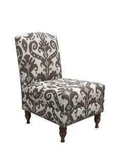 Armless Nail Button Chair - Gilt Home