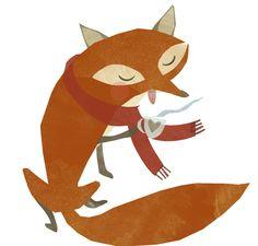 Hello Autumn! Fox Graphic – Pearl + Earl · Indie Crafts   CraftGossip.com