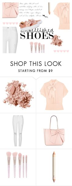 """""""Embellished Shoes"""" by pocok01 ❤ liked on Polyvore featuring Bobbi Brown Cosmetics, RED Valentino, River Island, Karl Lagerfeld and Forever 21"""