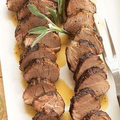 Sage-rubbed Pork Tenderloins with Sage Butter | MyRecipes.com