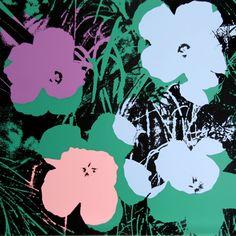 Prints by Andy Warhol (Sunday B. Morning) > Flowers II #warhol #popart #art #prints | https://www.artetrama.com/en/artworks/andy-warhol-sunday-b-morning-flowers-ii