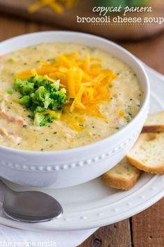 Panera Broccoli Cheese Soup Panera broccoli cheddar soup Made this today minus the carrots and nutmeg.delicious and creamy!Panera broccoli cheddar soup Made this today minus the carrots and nutmeg.delicious and creamy! Crock Pot Recipes, Cooking Recipes, Healthy Recipes, Cooking Food, Chicken Recipes, Food For Thought, Restaurant Recipes, Dinner Recipes, Summer Soup Recipes
