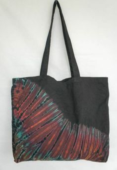 TIE DYE TOTE BAG 012 HANDMADE CANVAS Shoulder HIPPIE BOHO PURSE 60s 70s