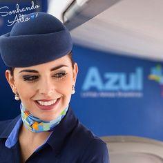 """""""Felicidade de fazer o que se ama... Certeza que o amanhã será sempre melhor."""" Comissária Talitha Neri ✈️ #crewlife #future #flightattendant #aeromoças #aeromoça #stewardess #comissáriadebordo #azullinhasaereas #fly #revistatripulante #aero #tripulantes #aviacaocms #voeazul #flyaway #comissariasdevoo #azul #blueangel #cabincrew"""