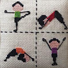 İsterseniz kasnakta isterseniz çerçevede sipariş edebileceğiniz 'Sporty Girl' modelimiz! ♀️♀️⛹♀️ . . . . . #crossstitchpattern #magic_stitches #crossstitch #crossstitcher #crossstitchermagazine #crossstitchpattern #crossstitchaddict #xstitchersofinstagram #xstitch #xstitched #kanavice #kanaviçe #yoga #pilates #sportart
