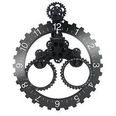 Big Wheel Klok met Dagaanduiding - Zwart/Wit