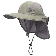 Connectyle Outdoor Neck Flap Sun Hat Large Brim Sun Protection Bucket Fishing  Hats Review 6776a265b743