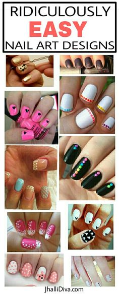 10 Ridiculously easy nail art designs ever. Why are we calling it easy? Because you only need dots to create them and they look super cute & trendy..