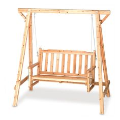 This really reminds me of a swing my parents had in their backyard growing up.  I really like how natural the wood looks on this one.  I think it would be perfect to relax outdoors on.  We have a perfect spot in the corner of our yard under a tree.