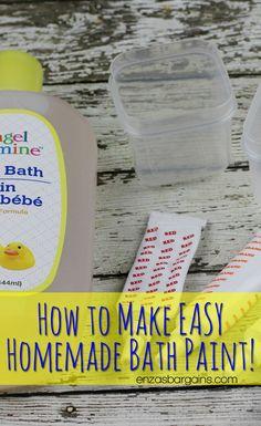 Homemade Bath Paint for Kids!