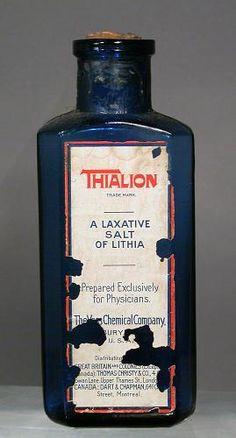 Thialion; salt of lithia (drug active ingredients); 1898-1920
