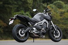 interesting naked 847cc bike from Yamaha ヤマハ MT-09 (European name) also FZ09 (US name) ■最高出力 = 84.6kW(115PS)/10,000r/min ■最大トルク = 87.5N・m(8.9kgf・m)/8,500r/min ■車両重量 = 188kg