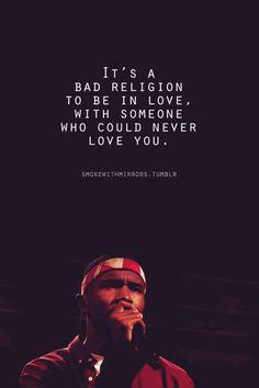 Bad Religion - Frank Ocean best song on the album