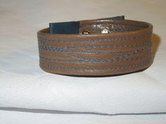 Pulsera de cuero para hombre marrón 100 hecha a mano por BellyPork, €7.00