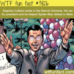 Stephen Colbert in the Marvel Universe - WTF fun facts