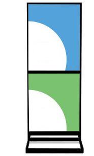 2-Tier Poster Floorstands | Indoor Poster Display Stands