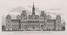 The project for reconstructing the Hotel de Ville, Paris