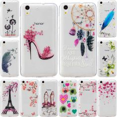 For Huawei Y6 2 Case Ultra Thin Transparent Soft Silicone TPU Back Cover Case for Huawei Y6 II Y6II Cartoon Mobile Phone Bags