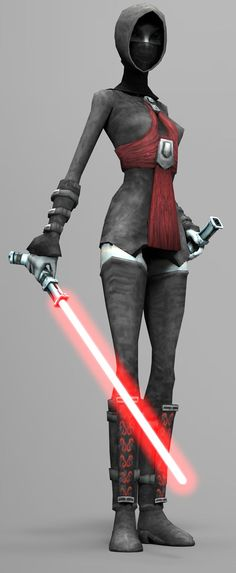 Asajj Ventress: Was a female Jedi & a valuable Acolyte to Count Dooku. Originally a Nightsister from Dathomir, Ventress was taken as a slave to Rattatak & trained as a Jedi Padawan by Jedi Knight Ky Narec. However, after Narec was slain, Ventress gave into her anger & began walking the path of the dark side taking up the lightsaber of her dead master, she trained herself in the Jar'Kai style of lightsaber combat, before slaying all the warlords on Rattatak and installing herself as its…