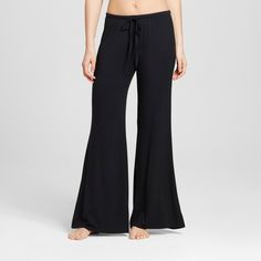 Women's Wide Leg Pajama Pants - Total Comfort - - Black XL - Tall -