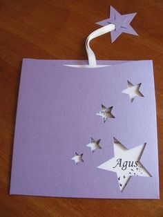 Sobre con estrellas para invitacion de cumpleaños