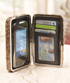 A cute idea, but don't cell phone batteries wipe out the magnetic strip on your driver's license and credit cards?  Phone Clutch Wallets
