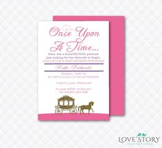 DIY Printable ~ Once Upon A Time Baby Shower Invitation ~ Happily Ever  After Invitation ~