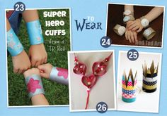 ultimate paper tube round up.  50 paper tube crafts!