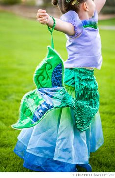 If I have a daughter I will allow her to accompany me to the grocery store and on errands dressed as a mermaid. The End. ;)