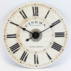 beautiful wooden wall clock. Discover more #clocks at http://www.inart.com/en/products/clocks