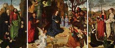 Portinari Triptych, 1478 by Hugo van der Goes. Northern Renaissance. religious painting. Uffizi Gallery, Florence, Italy