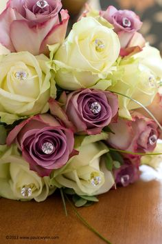 Bridesmaids Bouquet, Memory Lane and Avalanche Roses