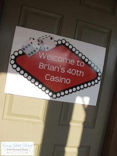 "Photo 1 of 26: Casino Birthday / Birthday ""Brian's 40th Casino Night!"" | Catch My Party"