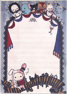 Sentimental Circus Memo Pad bunny & musical instruments 3
