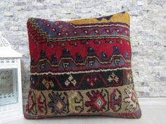 organic rug pillow natural pillow handmade rug pillow 18x18 decorative pillow bohemian pillow 18x18 rug pillow throw pillow home decor