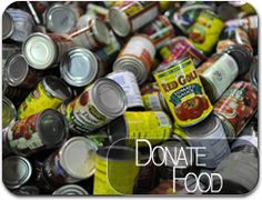 Hold a food drive to help your local community.