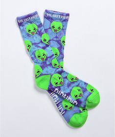 Unique Socks, Cool Socks, Thigh Highs, Cool Outfits, Tie Dye, Knitting, Purple, Color, December