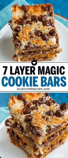 The Best 7 Layer Magic Cookie Bars! This quick and delicious Seven Layer Bar Recipe is a holiday classic and so easy to make! easy 3 ingredients easy for a crowd easy healthy easy party easy quick easy simple Quick Dessert Recipes, Sweet Recipes, Baking Recipes, Cookie Recipes, Easy Delicious Desserts, Easy Dessert Bars, Quick Easy Desserts, Yummy Food, Bar Recipes