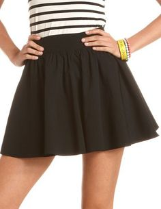 Millennium Stretch Full Skirt from Charlotte Russe, $22.99