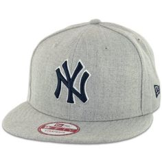 New Era 9Fifty NY New York Yankees Side Ringer Strapback (Heather Grey) Hat  Cap b77b488ebe31