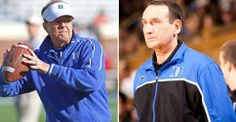 Duke football/men's basketball No. 3 on College Spin's list of the nation's top 10 coaching duos College Football, Football Team, Basketball T Shirt Designs, Men's Basketball, Top 10 Colleges, Mike Krzyzewski, Basketball Highlights, Duke Blue Devils, Final Four