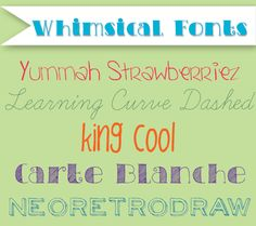 Whimsical Fonts | 50 Free Fonts for Baby Shower Invitations and Birth Announcements | DisneyBaby.com