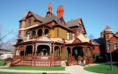 Tour the restored Hackley & Hume historic homes, examples of victorian architecture with stained glass and wood carvings, in downtown Muskegon.
