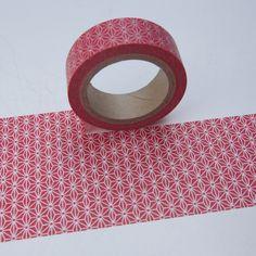 Washitape rot mit weiss / transparenten Muster von washitapes auf DaWanda.com